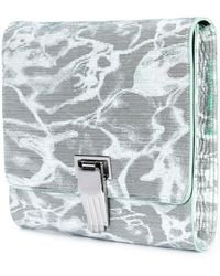 Opening Ceremony Hand Clasp Clutch green - Lyst