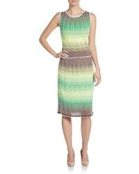 M Missoni Zigzag-print Tank Dress - Lyst