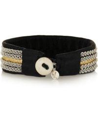 Maria Rudman - Embroidered Leather Bracelet - Lyst