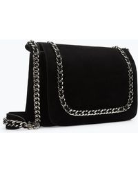Zara Leather Messenger Bag with Chain - Lyst