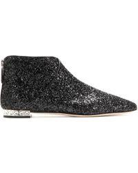 Miu Miu Glitter Ankle Boots - Lyst