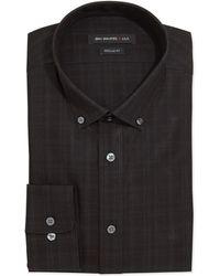 John Varvatos Regular Fit Check Dress Shirt - Lyst