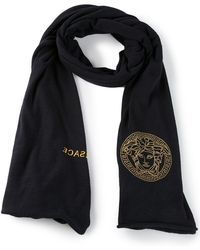 Versace Embroidered Medusa Scarf - Lyst