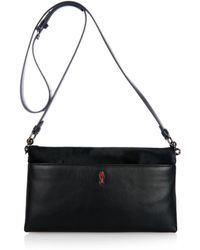 Christian Louboutin Rougissime Calf-Hair Cross-Body Bag - Lyst