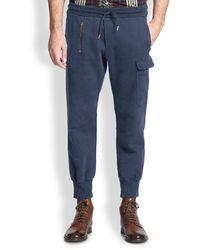 Diesel Blue Cargo Sweatpants - Lyst