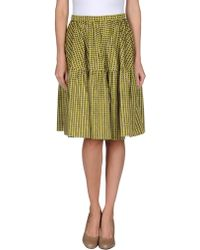 Carven Knee Length Skirt - Lyst