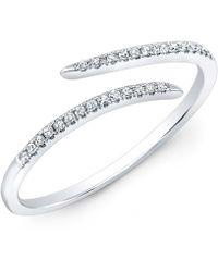 Anne Sisteron 14Kt White Gold Diamond Open Embrace Ring - Lyst