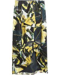 Erdem Charlene Drape Leaf Skirt - Lyst