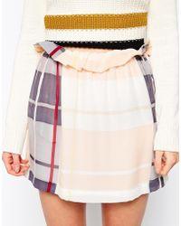 See By Chloé Check Mini Skirt - Lyst