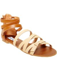 Steve Madden Worldly Faux Leather Sandals - Lyst