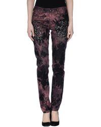 Just Cavalli Denim Trousers multicolor - Lyst