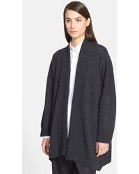 Eskandar Oversize Shawl Collar Merino Wool Cardigan - Lyst