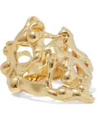 Annelise Michelson - Long Drops Gold-plated Ring - Lyst