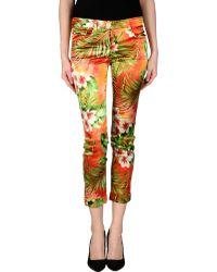 D&G Casual Trouser multicolor - Lyst
