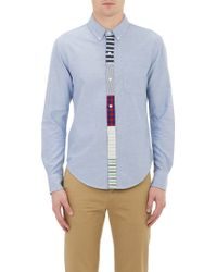 Band Of Outsiders Appliquéd Placket Oxford Shirt - Lyst