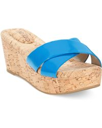 Me Too - Nila Platform Wedge Sandals - Lyst