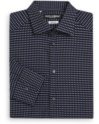Dolce & Gabbana Regular-fit Gold Al Pacino Cotton Dress Shirt - Lyst