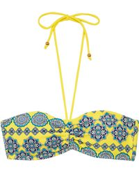 Oasis Moroccan Tile Ruched Bandeau - Lyst