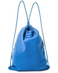 Burberry Prorsum - Drawstring Leather Bag - Lyst