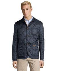 Burberry Brit Dark Indigo Quilted 'Mountfield' Reversible Jacket blue - Lyst