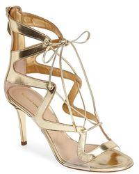 Nicholas Kirkwood Metallic Leather Sandal - Lyst