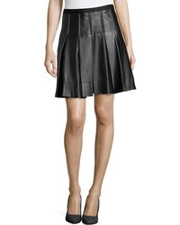Catherine Catherine Malandrino Emma Faux Leather Pleated Skirt - Lyst