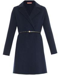 Max Mara Studio Oggeri Wool Coat blue - Lyst
