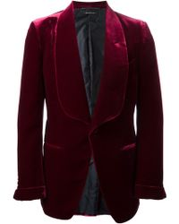 Tom Ford Shawl Lapels Velvet Blazer - Lyst