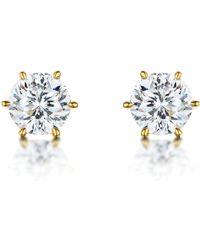 Bouton - 100 Facet Gold Earrings - Lyst