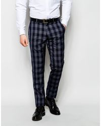 Vito - Check Suit Trousers In Skinny Fit - Lyst