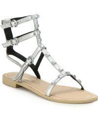Rebecca Minkoff   Georgina Studded Metallic Leather Gladiator Sandals   Lyst