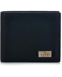 Gucci Grained-Leather Bi-Fold Wallet - Lyst