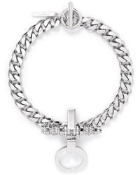 Givenchy 'Obsedia' Pearl Strass Curb Chain Necklace - Lyst