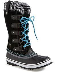 Sorel 'Joan Of Arctic - Knit' Waterproof Boot black - Lyst