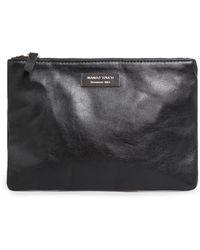 Mango Rectangular Leather Cosmetic Bag - Lyst