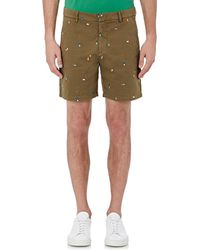 Band of Outsiders - Men's Embroidered Twill Shorts - Lyst