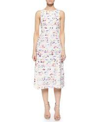 Shoshanna Vivana Sleeveless Floral-Print Dress floral - Lyst