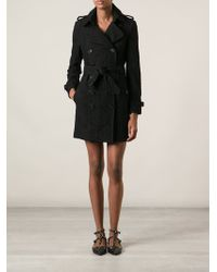 Burberry Brit Lace Trench Coat - Lyst