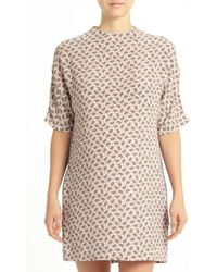 Joseph Matte Silk Paisley And Stripe Dress - Lyst