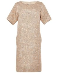 Rochas Jacquard Front Dress - Lyst