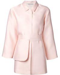 Emilia Wickstead Pink 'Madge' Coat - Lyst