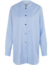 Rodebjer Blue Lux Cotton Tuxedo Shirt