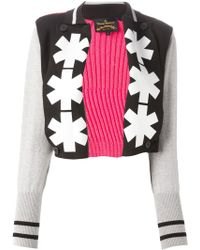Vivienne Westwood Anglomania Ribbed Back Printed Cardigan - Lyst