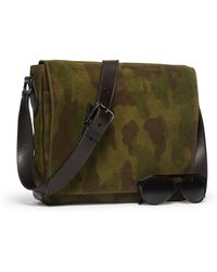 Ralph Lauren - Camo Suede Cross-body Bag - Lyst