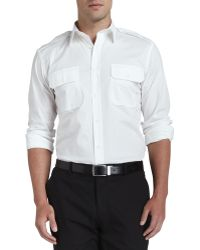 Ralph Lauren Black Label Poplin Military Shirt - Lyst