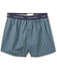 Calvin Klein Slim Fit Woven Boxers - Lyst