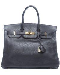 Hermès Pre-Owned Black Ardennes Leather Birkin 35 Bag - Lyst