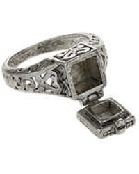 Topshop Silver Antique Hinged Box Ring silver - Lyst