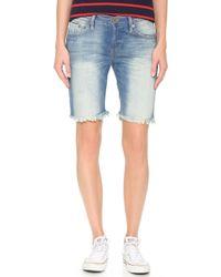NSF - Jane Braided Belt Shorts - Lyst