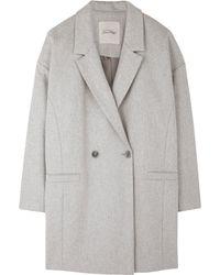 American Vintage Cocoon Grey Coat - Lyst